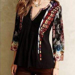 Anthropologie Ranna Gill Spectral Peasant Top